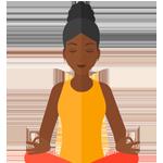 icoon meditatie houding